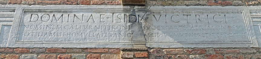 Bologna Santo Stefano Isis Inscription