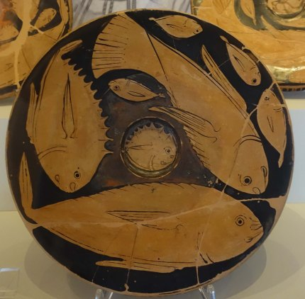 Plate from Etruscan tomb Ferrara Archeological Museum