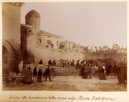 Bologna's walls demolished Giuseppe cavazza