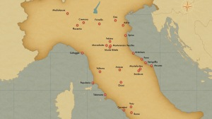 Estruscan settlements map