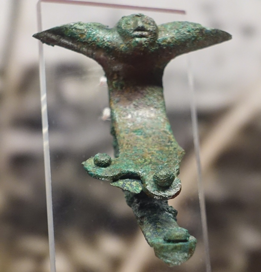 Villanova Etruscan cup handle bronze