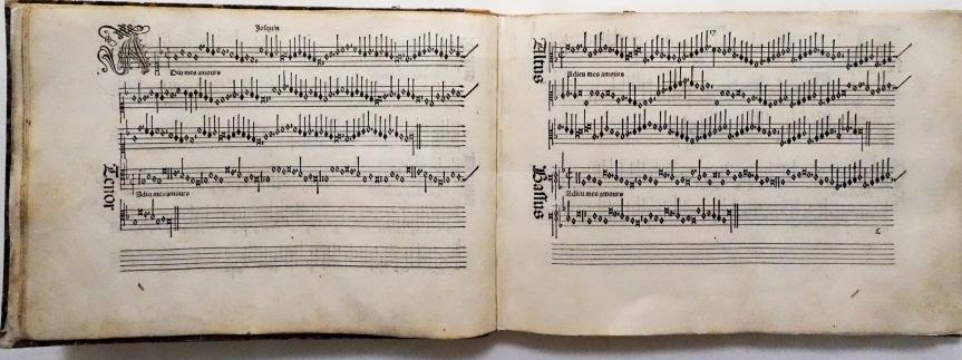 Harmonice Musices Odhecaton Bologna Music Museum Library Josquin Adiu Mes Amours