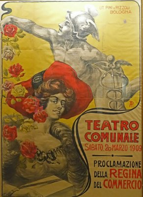 'Teatro communale Bologna regina commercio 1909