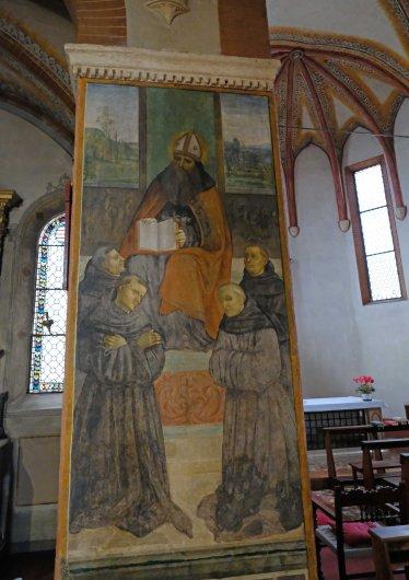 Fresco Saint Augustine Santa Maria della Misericordia Bologna