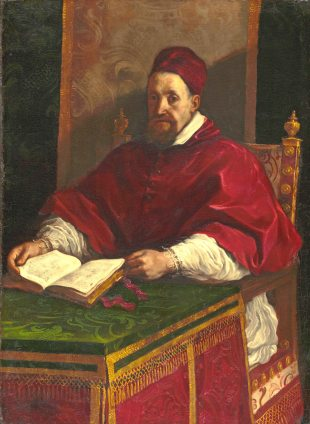 Alessandro Ludovisi , Pope Gregory XV painted by Guercini
