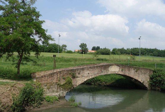 La bionda bridge Bologna navile canal