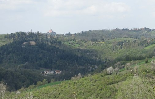 basilica of san luca viewed from bologna hills