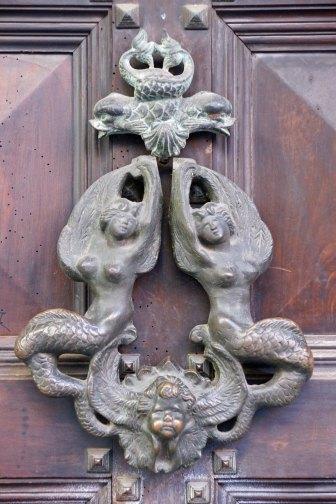 Mermain doorknocker Bologna