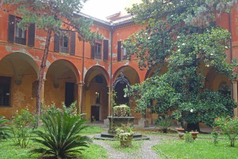 The courtyard of Bologna's Conservatory of Music