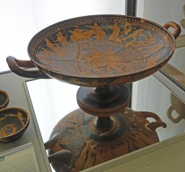 Kylix for drinking wine.