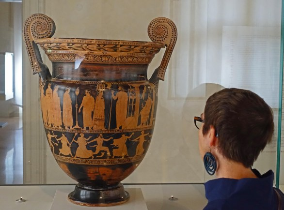 Krater for mixing wine.