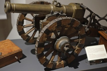 A model cannon.