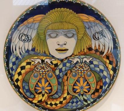 An Art Nouveau plate by Achille Calzi
