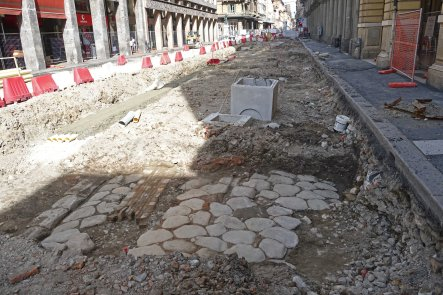 Just below the surface of Bologna's Via Ugo Bassi lies the Roman street.
