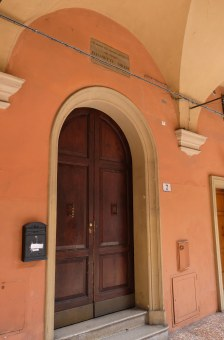 Elisabetta Sirani was born in this house at Via Urbana number 5, Bologna.