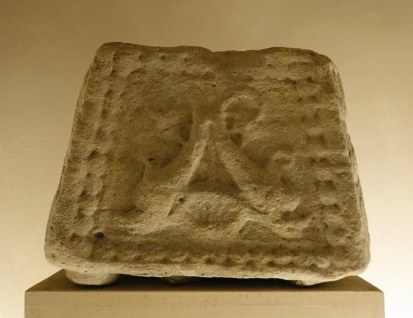 A carved stone from the Roman Arena.